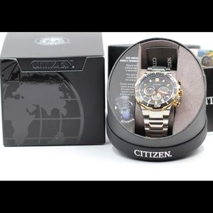 Citizen Brycen Stainless Gold Mens Eco-Drive Watch